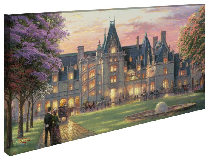 Elegant Evening at Biltmore® – 16″ x 31″ Gallery Wrapped Canvas