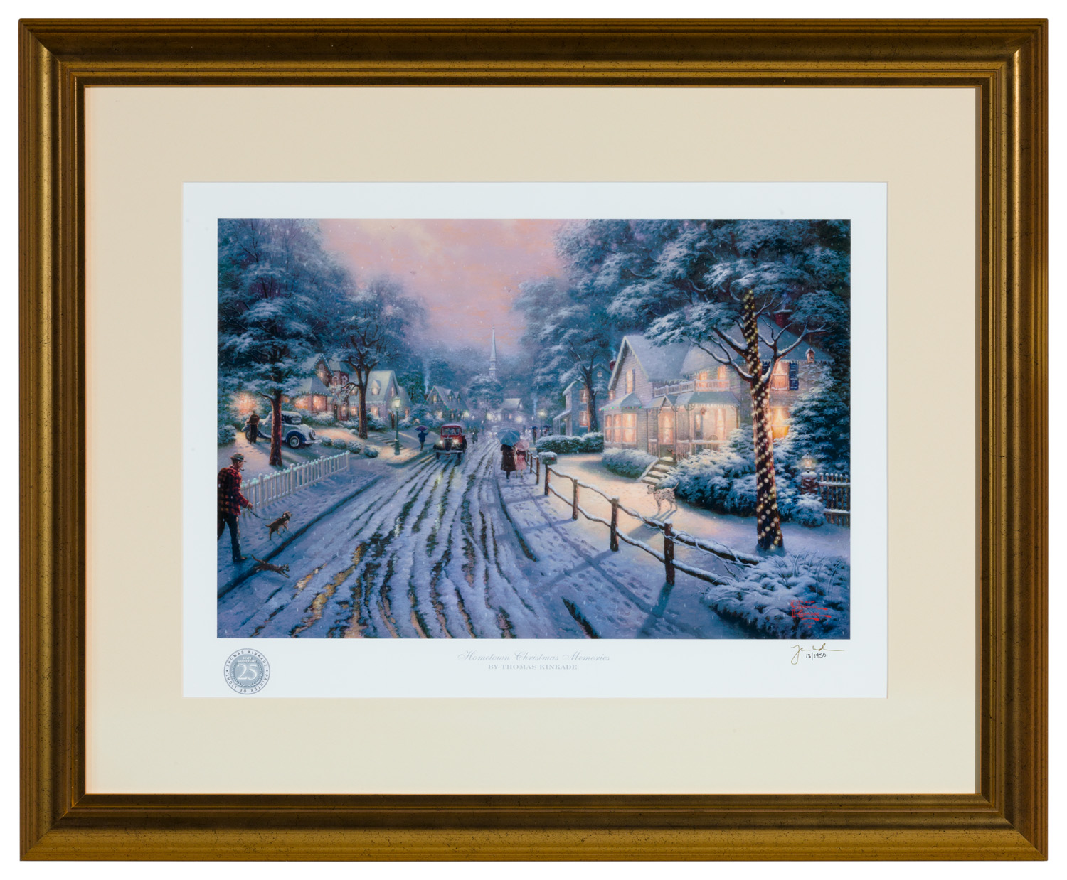 Hometown Christmas Memories – Framed Matted Print Signed by Thomas ...