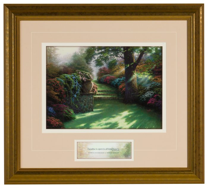 Pathway to Paradise – Inspirational Print (Gold Frame)