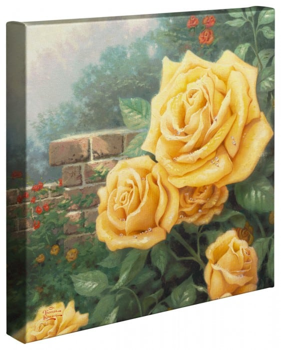 Perfect Yellow Rose, A – 14″ x 14″ Gallery Wrapped Canvas