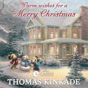 Hallmark eCard - Thomas Kinkade Mickey Mouse and Minnie Mouse
