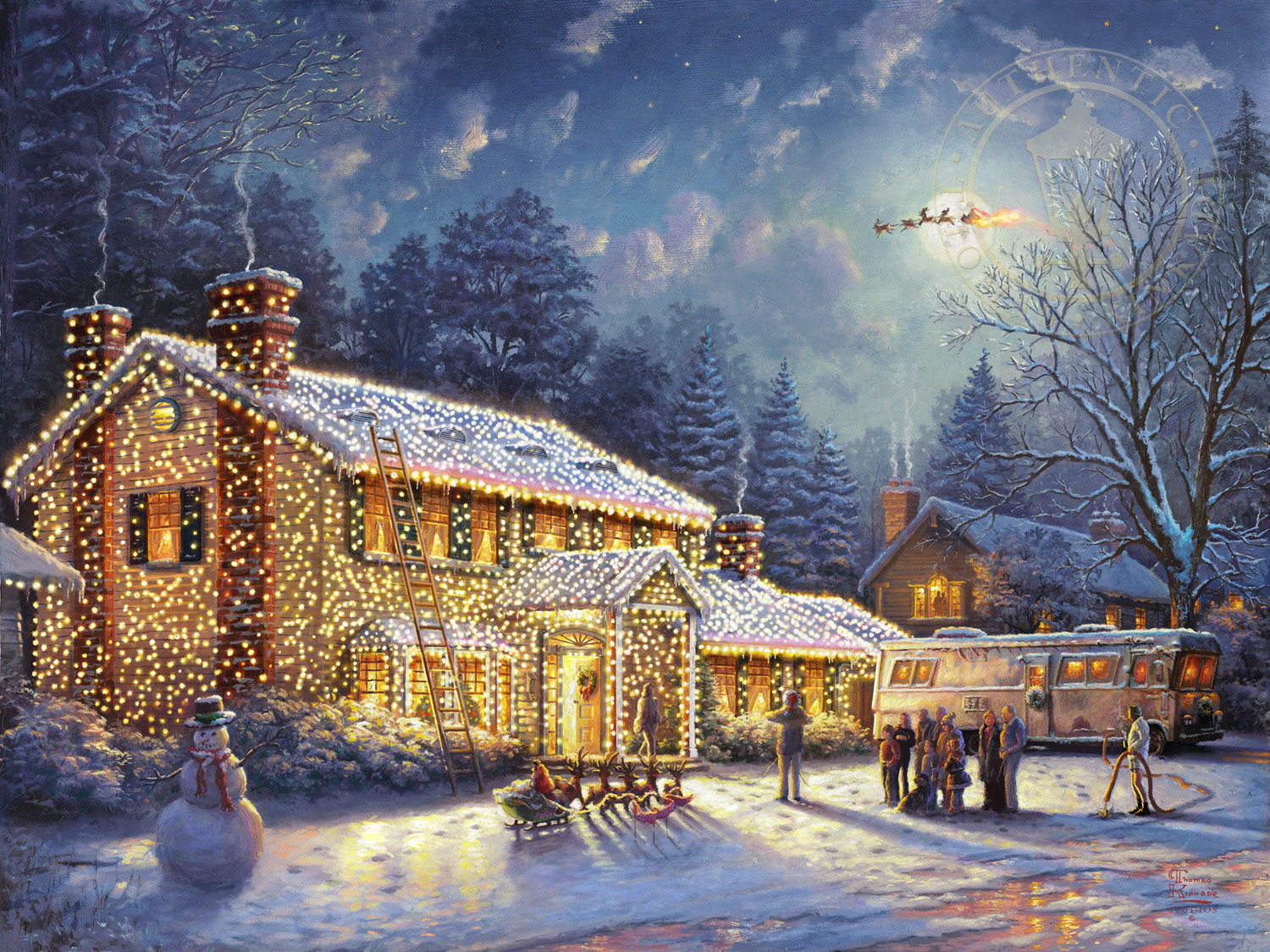 national lampoon s christmas vacation the thomas kinkade. Black Bedroom Furniture Sets. Home Design Ideas