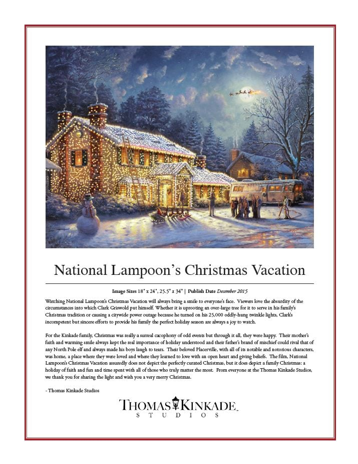 National Lampoon's Christmas Vacation - IRC - Thomas Kinkade Studios