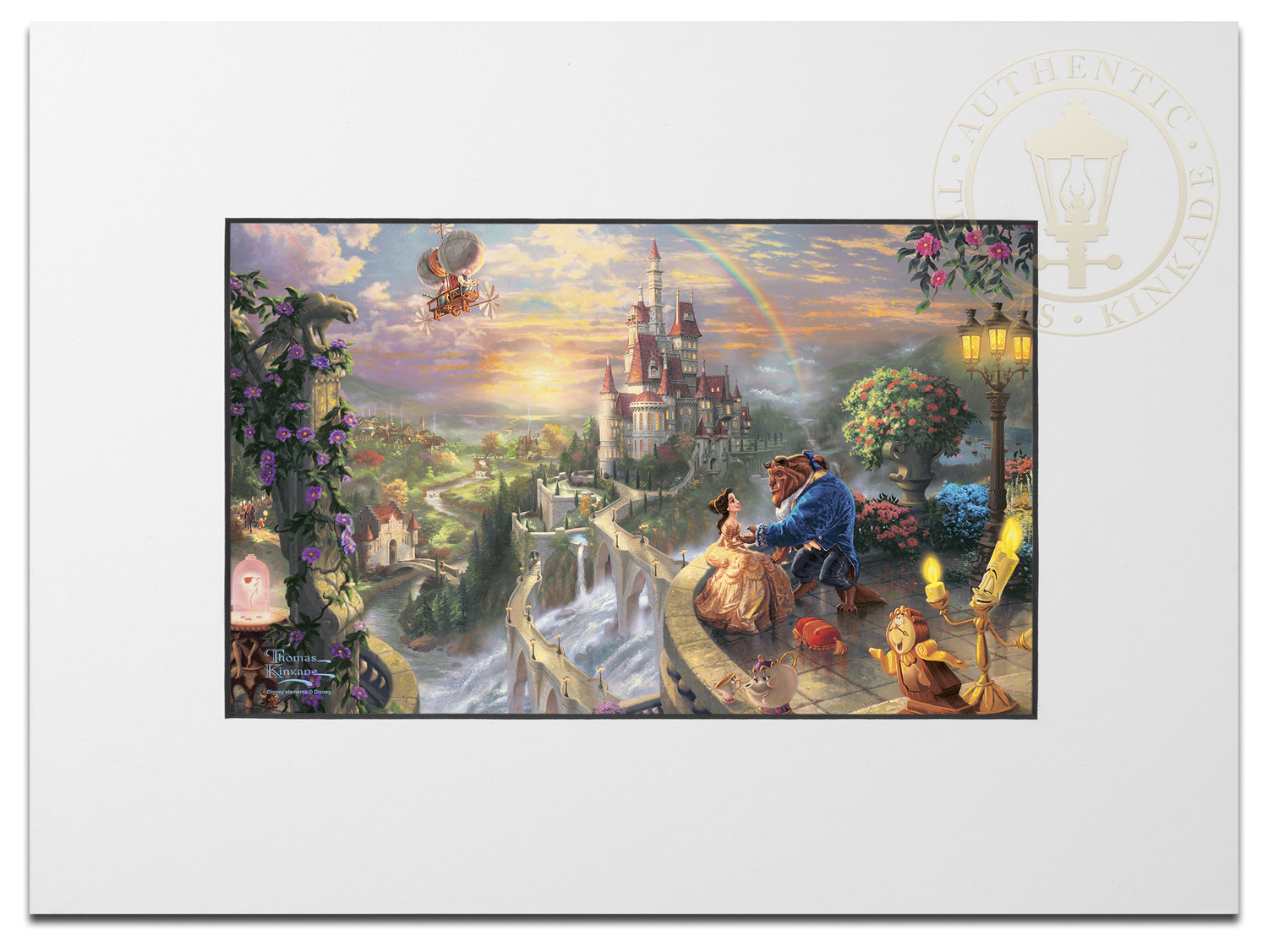 Beauty And The Beast Falling In Love Matted Prints