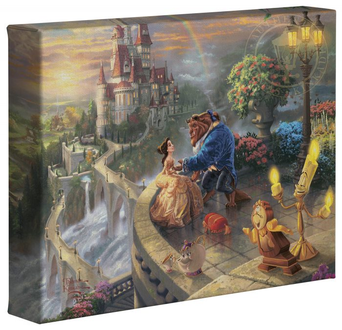 Beauty and the Beast Falling in Love – 8″ x 10″ Gallery Wrapped Canvas