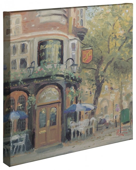 "Bloomsbury Café – 20"" x 20"" Gallery Wrapped Canvas"