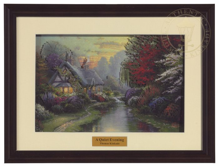 Quiet Evening, A – Framed Dimensional Print