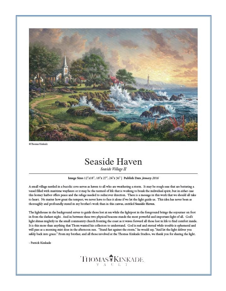 Seaside Haven - Thomas Kinkade IRC