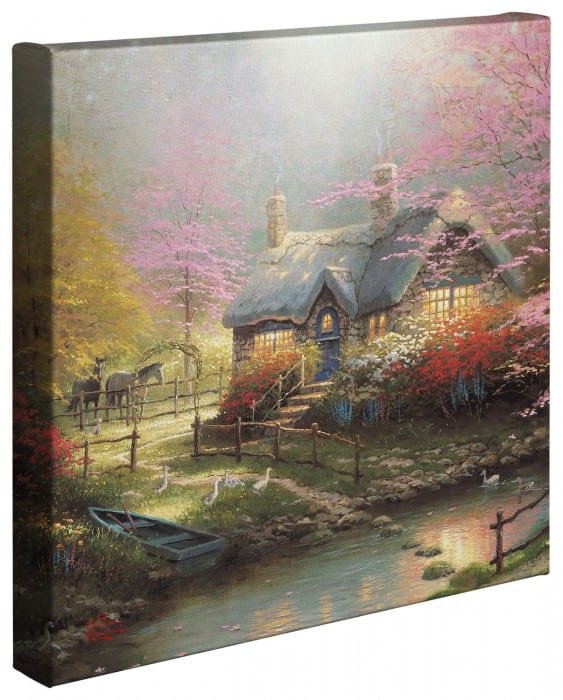Stepping Stone Cottage – 14″ x 14″ Gallery Wrapped Canvas