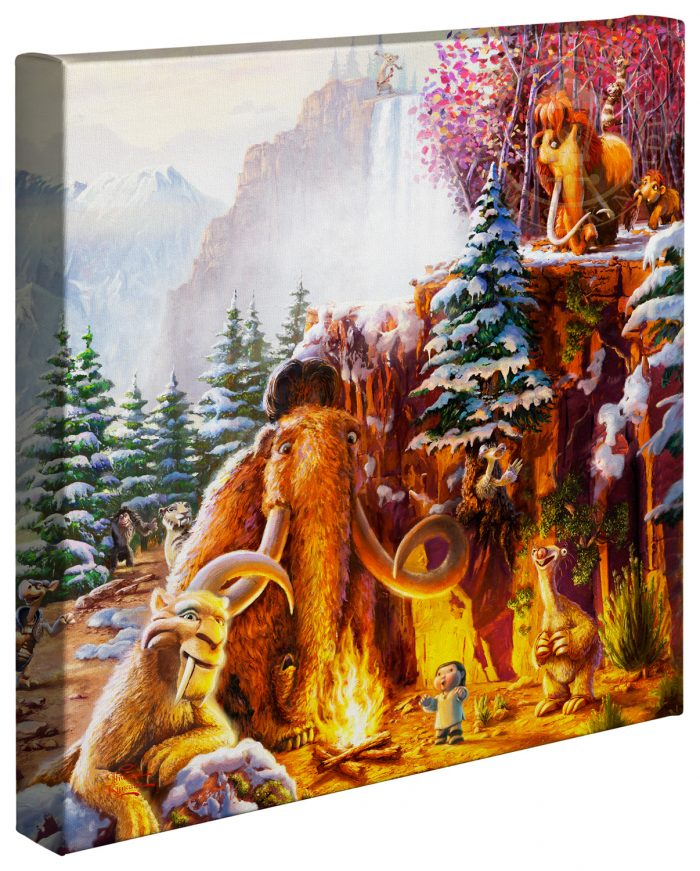 Ice Age (Right Panel Only) – 14″ x 14″ Gallery Wrapped Canvas