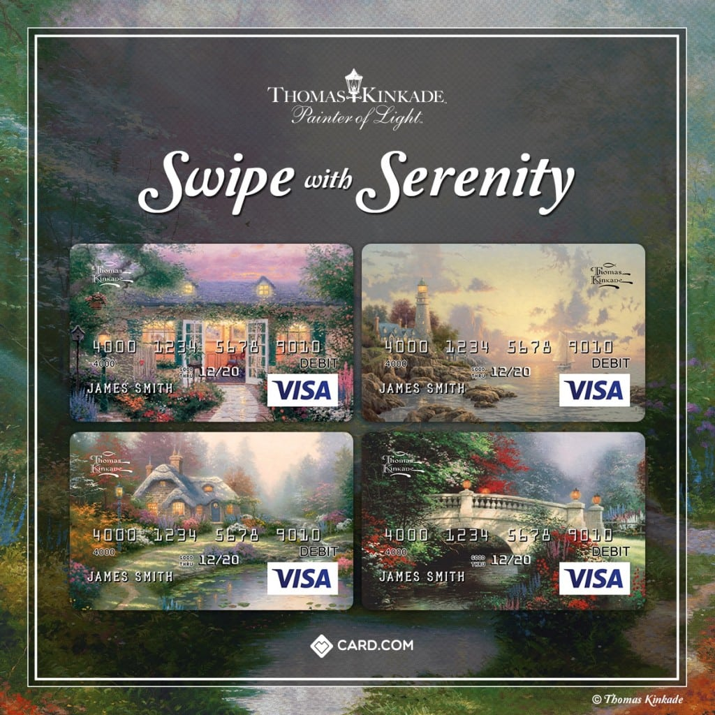 NEW Thomas Kinkade Prepaid Debit Cards