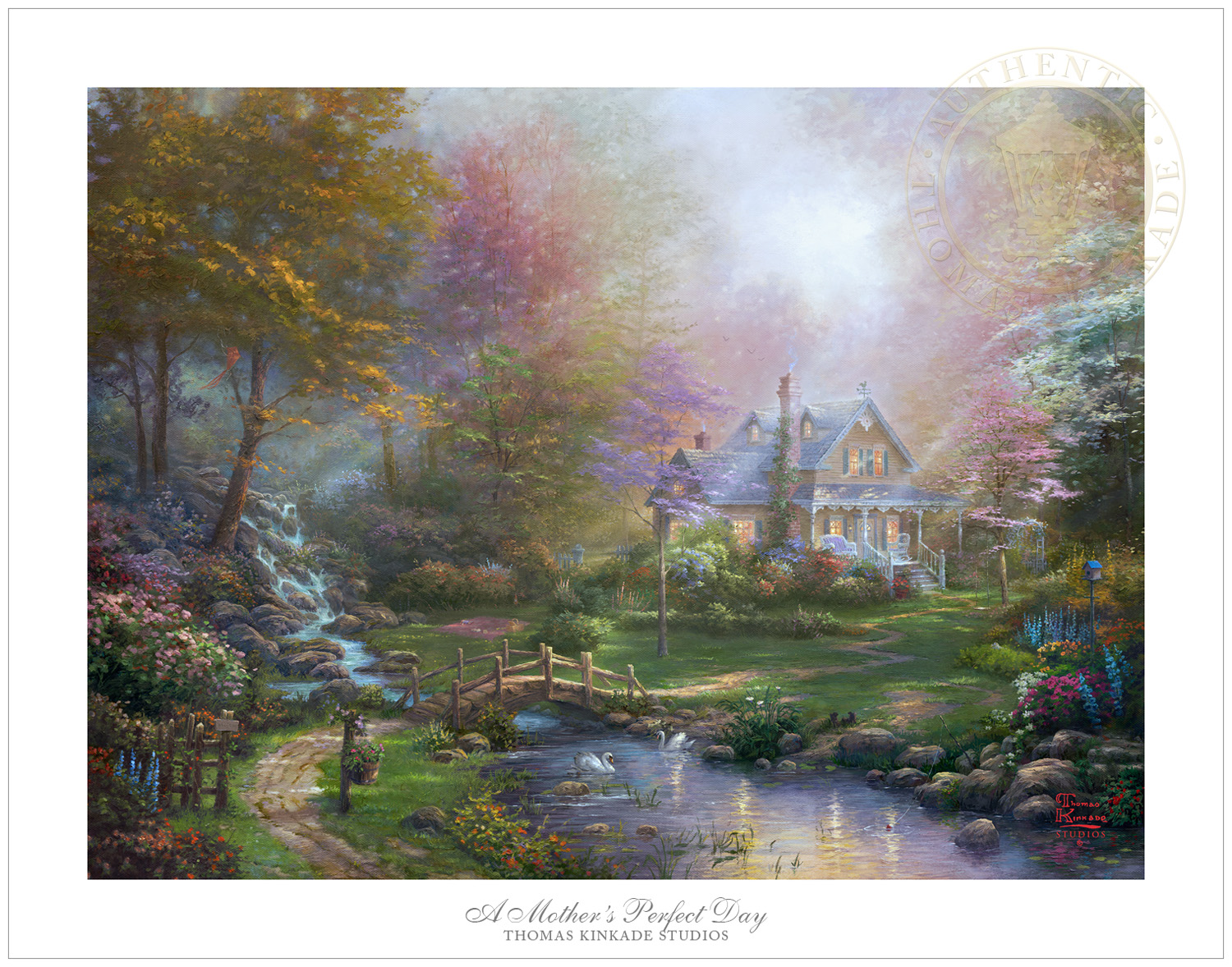 Home interiors and gifts framed art - Thomas Kinkade A Mother S Perfect Day 18