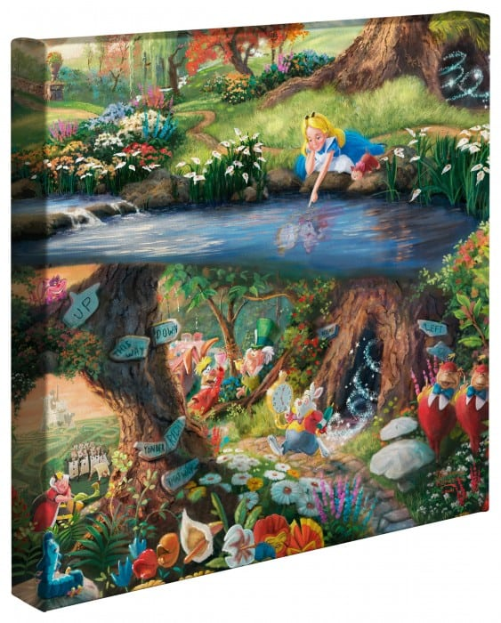 Alice in Wonderland – 14″ x 14″ Gallery Wrapped Canvas