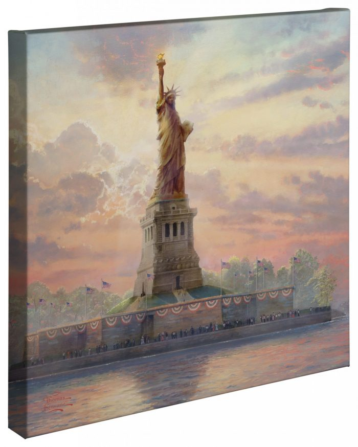 Dedicated to Liberty – 20″ x 20″ Gallery Wrapped Canvas