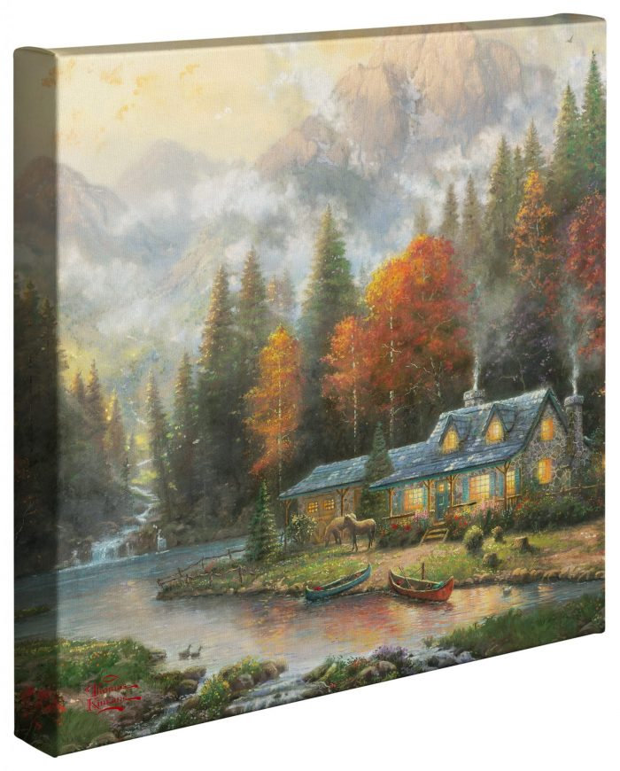 Evening at Autumn Lake – 14″ x 14″ Gallery Wrapped Canvas