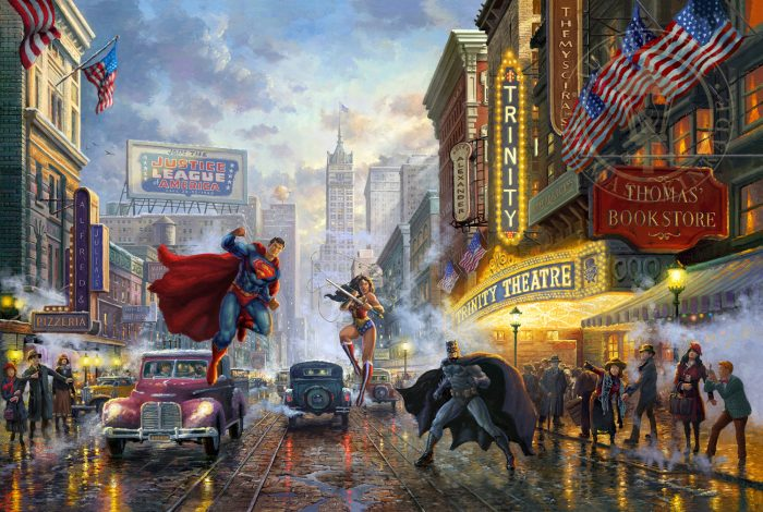 Batman, Superman, Wonder Woman – Limited Edition Canvas