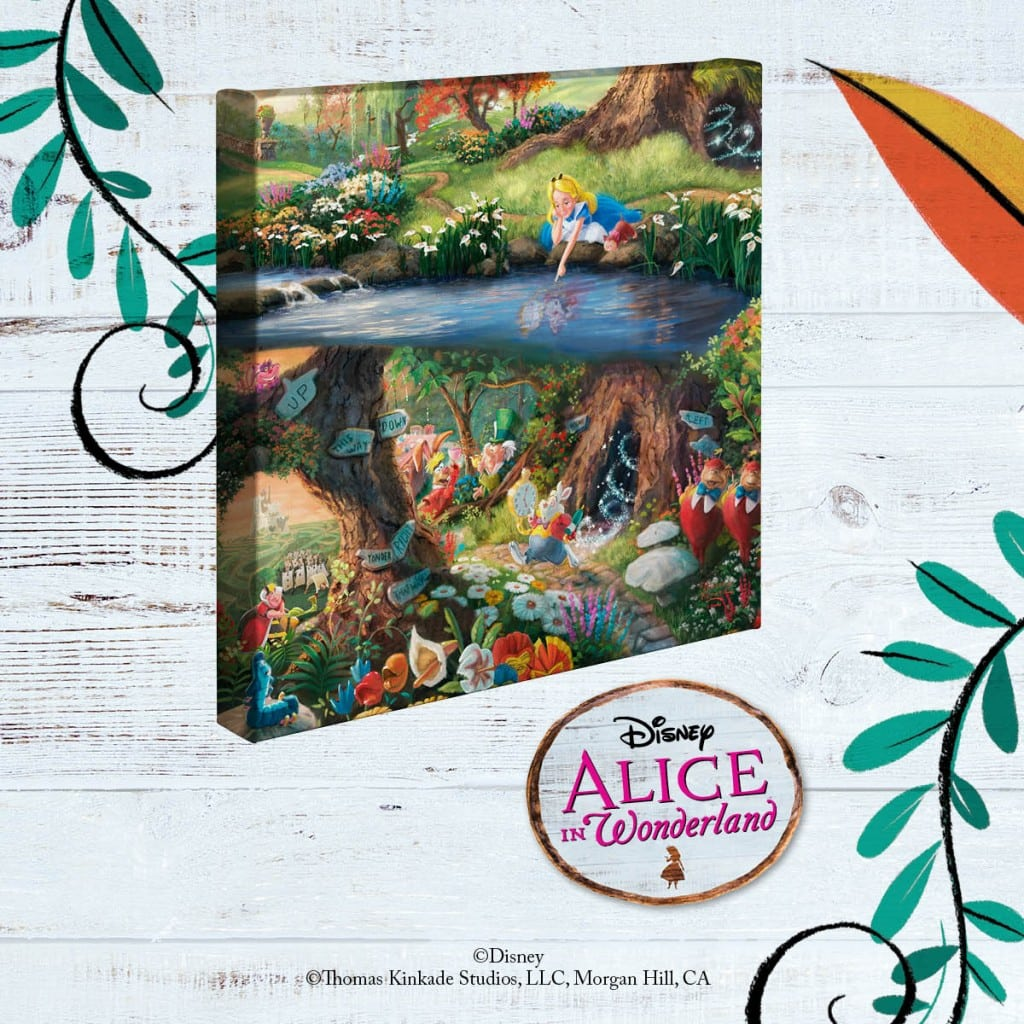 Thomas Kinkade Disney Alice in Wonderland Gallery Wrapped Canvas Giveaway