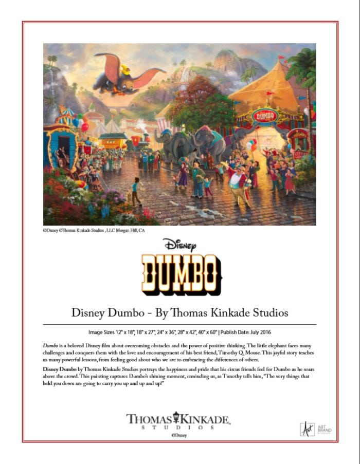 Disney Dumbo Brochure