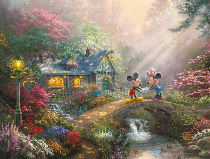 Disney Mickey and Minnie – Sweetheart Bridge – Limited Edition Art