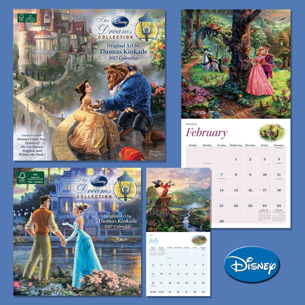 The Best-Selling Thomas Kinkade Disney Dreams Collection 2017 Wall Calendar is Here!