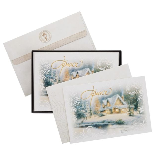 hallmark deer creek cottage christmas cardjpg - Boxed Holiday Cards