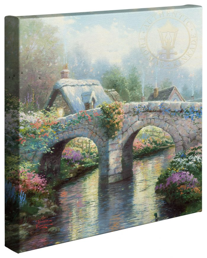 Blossom Bridge –  14″x14″ Gallery Wrapped Canvas