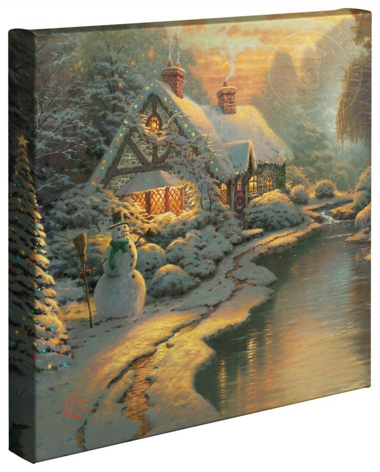 Christmas Evening –  14″x14″ Gallery Wrapped Canvas