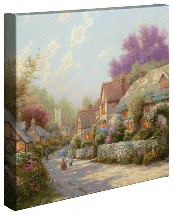 Cobblestone Village –  14″x14″ Gallery Wrapped Canvas