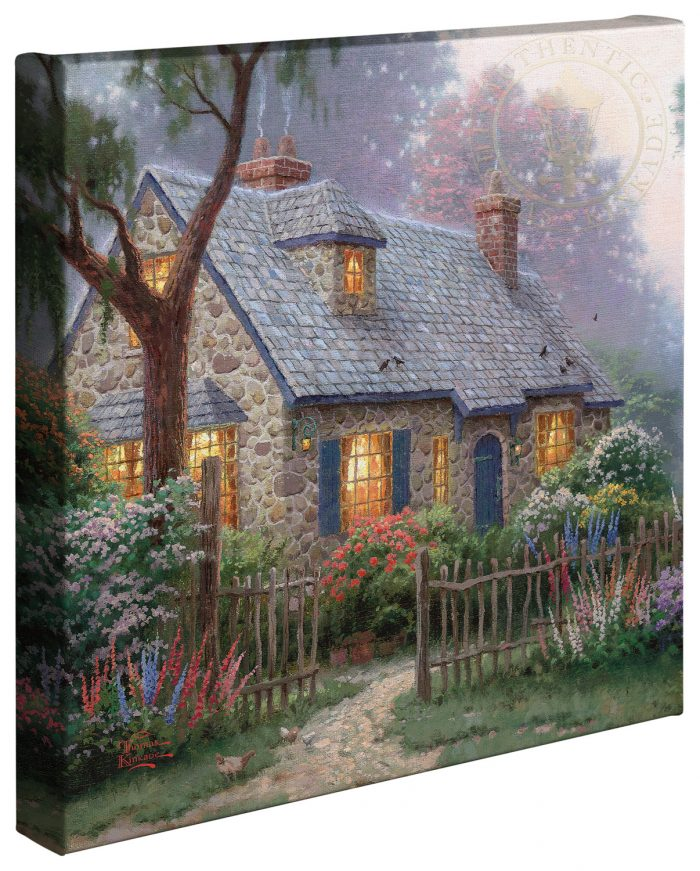Foxglove Cottage –  14″x14″ Gallery Wrapped Canvas