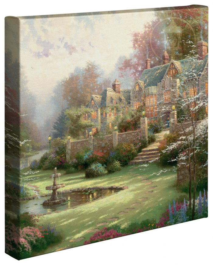 Gardens Beyond Spring Gate –  14″x14″ Gallery Wrapped Canvas