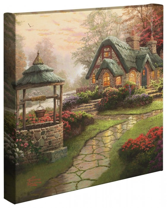 Make A Wish Cottage –  14″x14″ Gallery Wrapped Canvas
