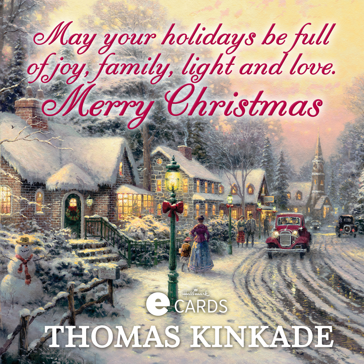 Thomas Kinkade Hallmark Interactive Holiday E Card The Thomas