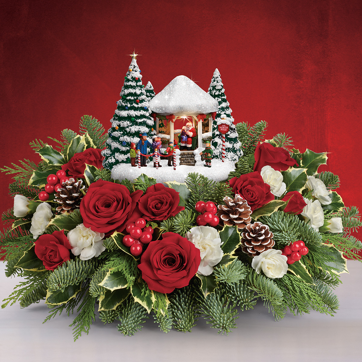 Teleflora Christmas 2020 Thomas Kinkade's Jolly Santa Bouquet by Teleflora Sweepstakes