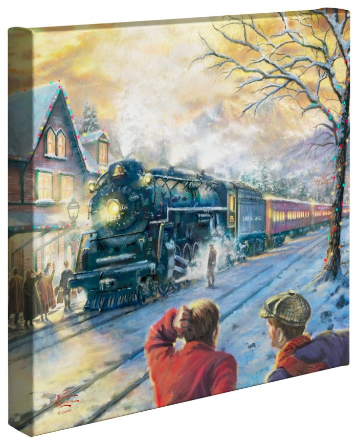 All Aboard for Christmas – 14″ x 14″ Gallery Wrapped Canvas