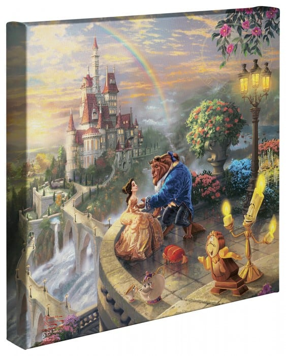 Beauty and the Beast Falling in Love – 14″ x 14″ Gallery Wrapped Canvas