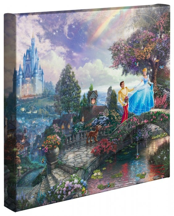 Cinderella Wishes Upon a Dream – 14″ x 14″ Gallery Wrapped Canvas