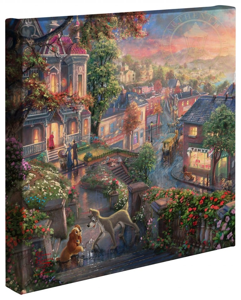 Lady and the Tramp – 14″ x 14″ Gallery Wrapped Canvas