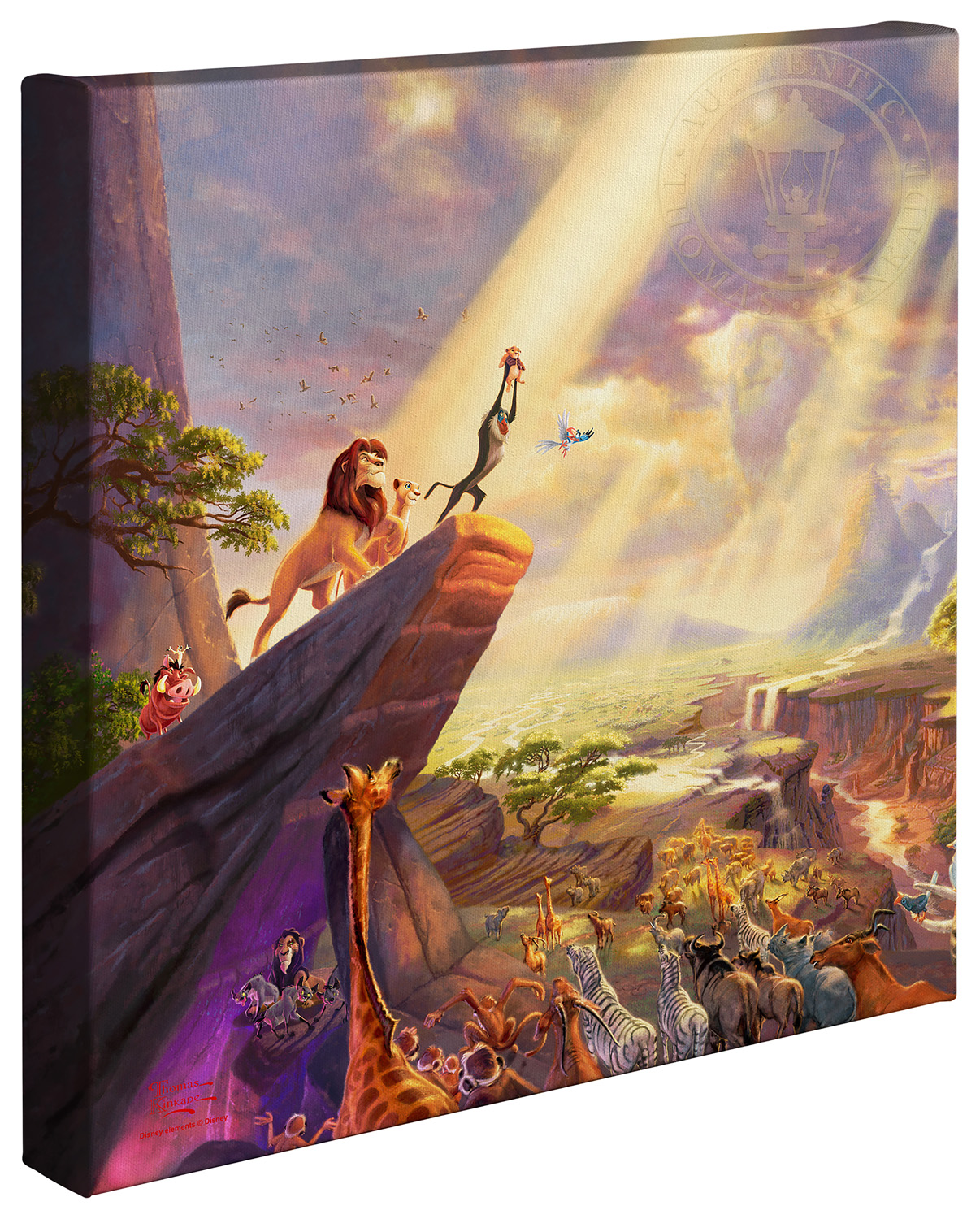 Lion King, The – 14″ x 14″ Gallery Wrapped Canvas | The Thomas ...