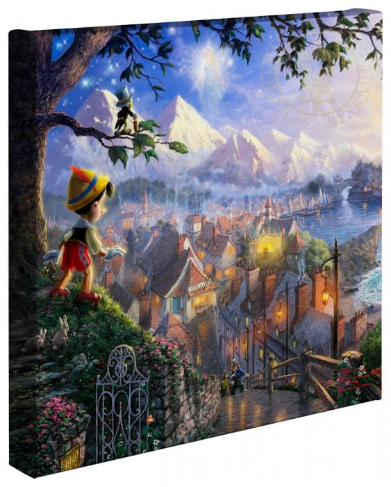 Pinocchio Wishes Upon A Star – 14″ x 14″ Gallery Wrapped Canvas