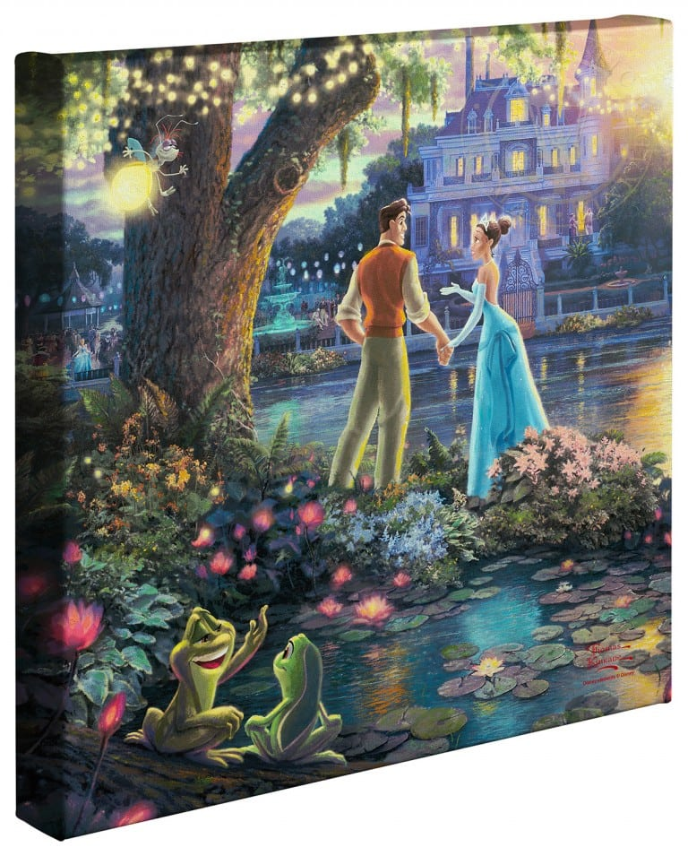 Princess and the Frog, The – 14″ x 14″ Gallery Wrapped Canvas