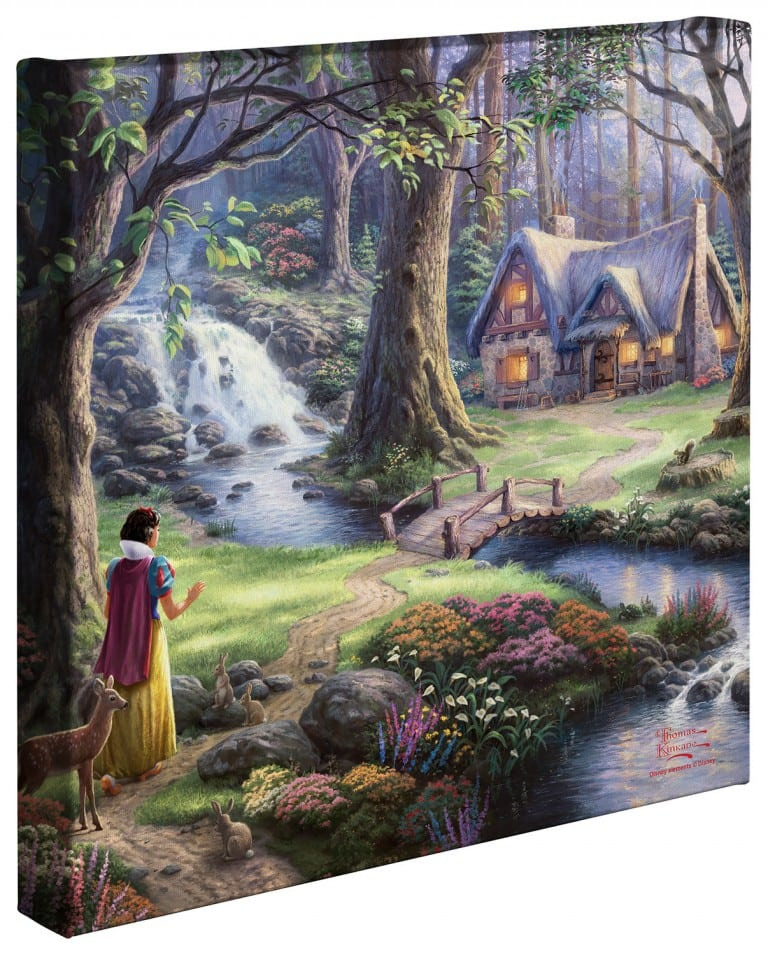 Snow White Discovers the Cottage – 14″ x 14″ Gallery Wrapped Canvas