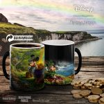 Thomas Kinkade Studios Heat Changing Mugs Featuring Mickey and Minnie