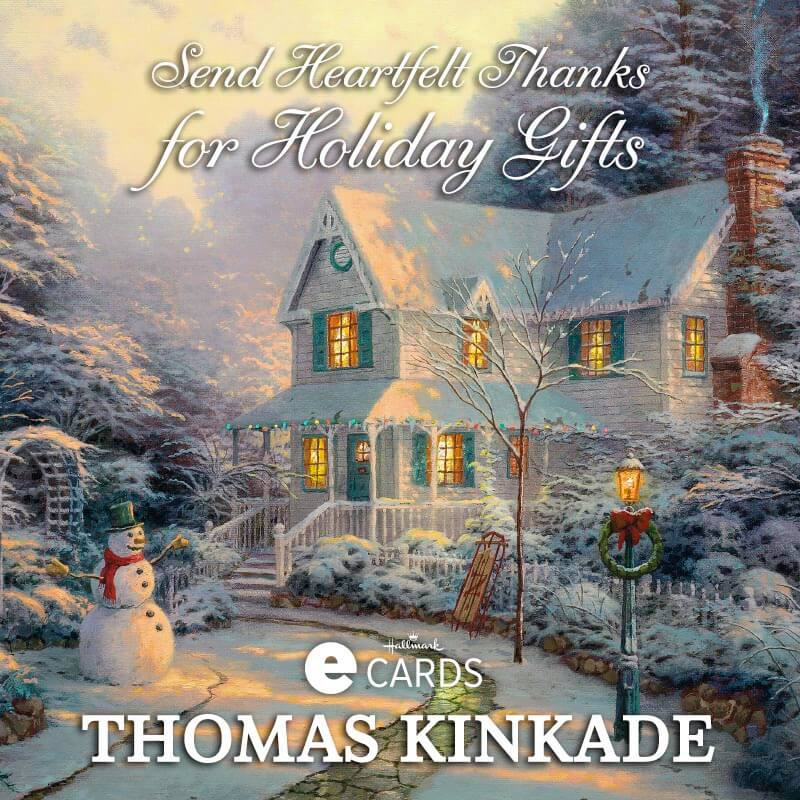 Winter Thomas Kinkade Hallmark eCards