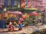 Mickey and Minnie – Sweetheart Café – Limited Edition Canvas