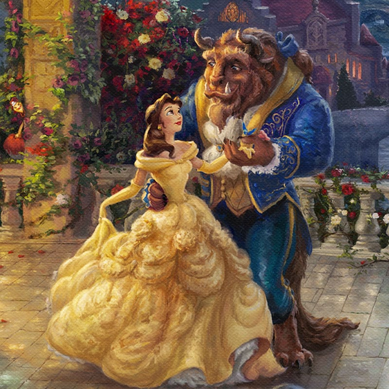 Beauty And The Beast Dancing In Moonlight Limited Edition