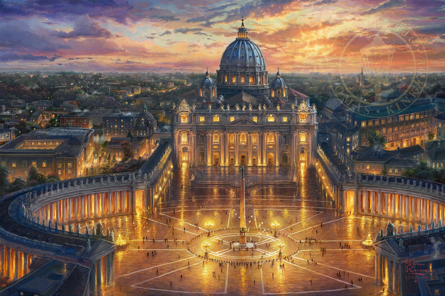Vatican Sunset – Limited Edition Canvas