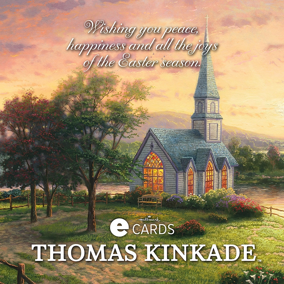 Joys of the easter season easter ecard the thomas kinkade company with dayspring and hallmark cards inc the extensive line of thomas kinkade products includes greetings boxed cards gift wrap tags and bags negle Gallery