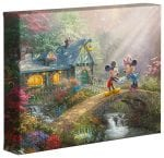 Mickey and Minnie Sweetheart Bridge – 8″ x 10″ Gallery Wrapped Canvas
