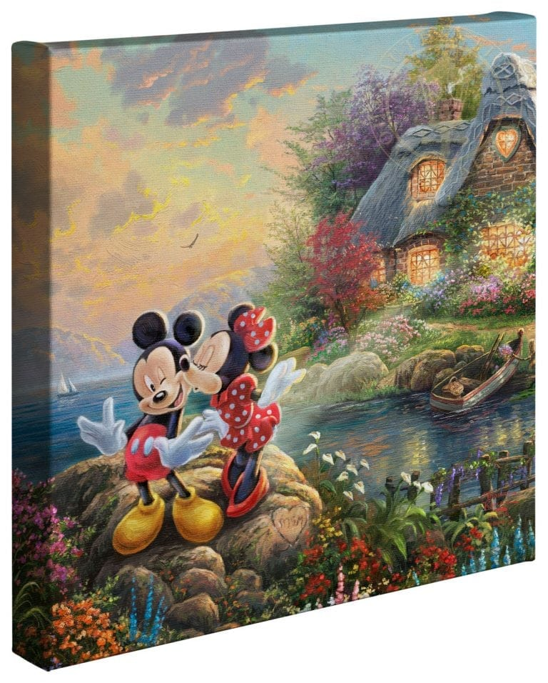 Mickey & Minnie Sweetheart Cove – 14″ x 14″ Gallery Wrapped Canvas