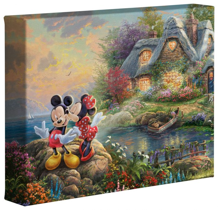 Mickey & Minnie Sweetheart Cove – 8″ x 10″ Gallery Wrapped Canvas